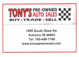 Tony's Pre-Owned Auto Sales
